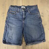 Levi's Signature Stretch Blue Womens Bermuda Jean Shorts Sz 10
