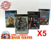 5X SONY PLAYSTATION PS2 CIB GAME - CLEAR PROTECTIVE BOX PROTECTORS SLEEVE CASE