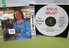 WHITE WOLF Dave Trezak autograph Native Country CD Cherokee Tribe 1999