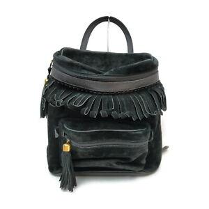 Gucci BackPack Bag  Black Suede Leather 1724203