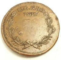 Moneda México Revolución 50 Centavos Campo Morado Guerrero 1915