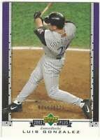 LUIS GONZALEZ 2002 Upper Deck UD Plus #UD61 /1125 Diamondbacks  ID:9214
