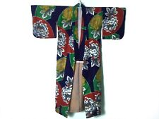 Authentic Vintage Japanese Kimono Traditional Colorful Pattern