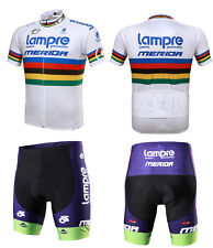spring and summer MERIDA Short sleeve jersey suits bicycle clothing  LAMPRE