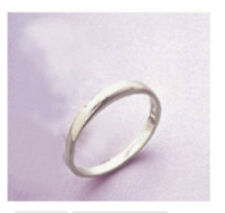 Ladies Plain 925 Sterling Silver Wedding Band Size 7
