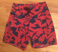 Patagonia Floral Blue Red Men's Board Shorts Sz. 30