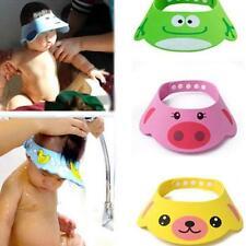 Kids Baby Bath Shower Cap Hat, Soft Comfortable Aadjustable Wash Hair Shield Hat