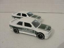 2020 Hot Wheels L Case White Green 92 BMW M3 Poleizei car HW Rescue 2Lot Loose