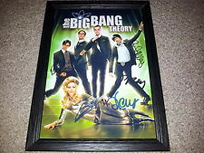"""THE BIG BANG THEORY PP SIGNED & FRAMED 12X8"""" A4 POSTER JIM PARSONS KALEY CUOCO 2"""