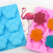Silicone Chocolate Mould 6 Dog Cat Paw Biscuit Baking Ice Cube Jelly Cake Mold