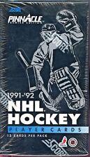 1991-92 Pinnacle Hockey Factory Sealed Box 36 Packs Per Box