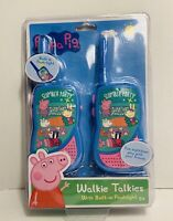 Peppa Pig Walkie Talkies Flashlight Slumber Party Toy Two Way Radio NIB New