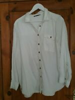 Marks and spencer womens Cream 100% Lyocel Shirt Blouse size  14 New