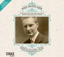 CD Paul Bazelaire Intégrale des Oeuvres Cello-piano    Violoncelle et piano