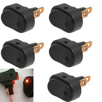 5 X 12V 30A Heavy Duty Red LED OFF/ON Rocker Toggle Switch Car Motor Boat Sales