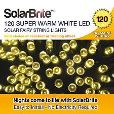 Solar Brite Deluxe 7M Super Warm White 120 LED Fairy String Lights