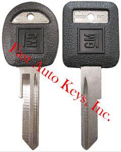 "2 NEW GM Logo OEM ""E"" IGNITION +""H"" DOORS/TRUNK Key Blanks Uncut 595198 + 595311"