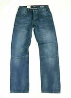 Men's HENRY CHOICE LOOSE LENNON Button Fly Blue Denim Jeans Size W28 L32 NEW