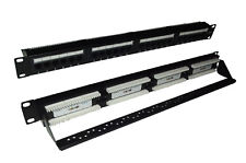 Cat6 UTP RJ45 24 Port Patch Panel with Rear Cable Manangement Support Bar