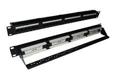 Cat6 UTP RJ45 24 Port Patch Panel Avec Câble Arrière Système Support Bar