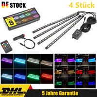 8In1 RGB LED Fußraumbeleuchtung Lichtleiste set Auto Innenraumbeleuchtung Licht