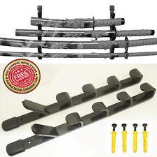 5 Tier Wall Mount Samurai Sword Katana Display Holder Stand Hanger Bracket Rack