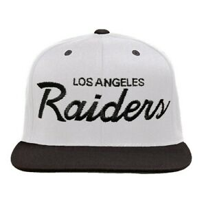 Reebok NFL Vintage Collection Los Angeles Raiders Grey/Black Script Snapback hat