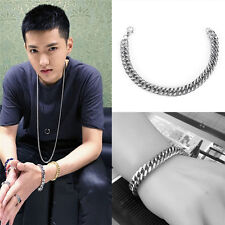 Men Punk Stainless Steel Bracelet Chain Link Wristband Jewelry Bangle Accessory~