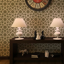 Moroccan Wall Stencil Esther for DIY project, Wallpaper look and easy Decor