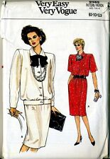Loose Fit TOP SKIRT Separates Suit, Very Easy Vogue 9485 Sewing Pattern 8 10 12