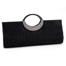 Elegant Diamante Ring Frill Handbag Clutch Bag Evening Wedding Purse Women Bag