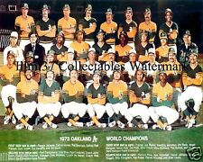 1973 OAKLAND ATHLETICS WORLD SERIES CHAMPIONS TEAM 8X10 PHOTO JACKSON FINGERS