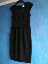 Reiss Cristal Black Bodycon Sweetheart Neckline Sleeveless Pencil Dress Size 10
