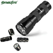 9000LM LED Flashlight Lamp Torch LED Light With Clip  Penlight AA Black Color U
