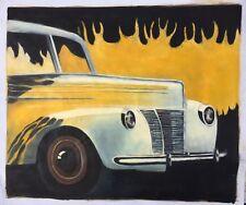 "Classic Car Flames ART OIL PAINTING 20x24"""