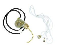 Jandorf Fan & Light Switch With Pull Chain 1 Speed - 2 Wire Brass Finish 60304