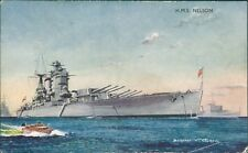 Postcard Royal Navy Battleship HMS Nelson J Salmon Card unposted