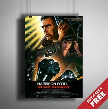 A3 or A4 Size * BLADE RUNNER 1982 Movie Poster * Harrison Ford Vintage Art Print