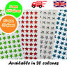 Star Shaped Decorative Diamante Crystal Sticky Rhinestone Gems 2 Sizes 20 Colour