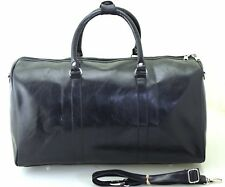 Large Italian Leather Style Holdall Luggage Weekend Duffel Travel Overnight Bag