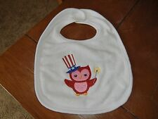 Embroidered Baby Bib - 4th of July - Red Owl W/Sparkler