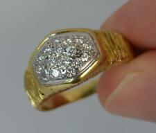 Vintage CROPP & FARR Diamond and 18ct Gold Cluster Ring d0017