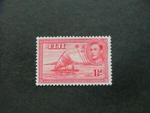 Fiji KGVI 1949 1½d carmine Die II P12 SG252c UM/MNH