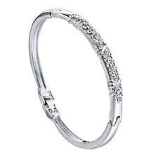 uk silver ladies diamante Crystal Rhinestone Bracelet Bangle jewellery GIFT 1001