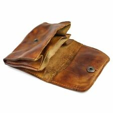 Genuine Leather Wallet Men Women Vintage Handmade Credit Card Holder Coin Purses