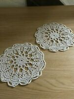 Vintage cotton lace crochet doily / mats X 2