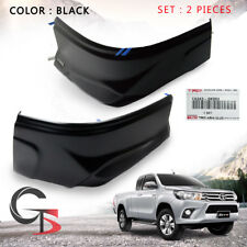 Toyota Hilux Revo 15 2016 17 To Rear Bumper Corner Cover Black Genuine Trim 2 Pc