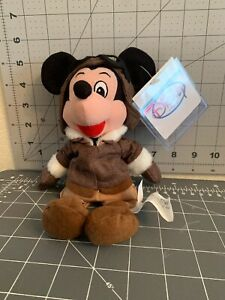 Disney Pilot Aviator Mickey Mouse Bean Bag Plush