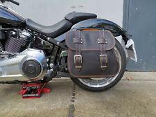 Satteltasche ZEUS BLACK & ORANGE Schwingentasche Seitentasche Breakout Fatbob 18