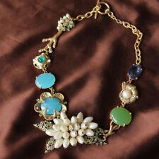 Pendant Statement Necklace European Fashion Green Flowers Female Baroque